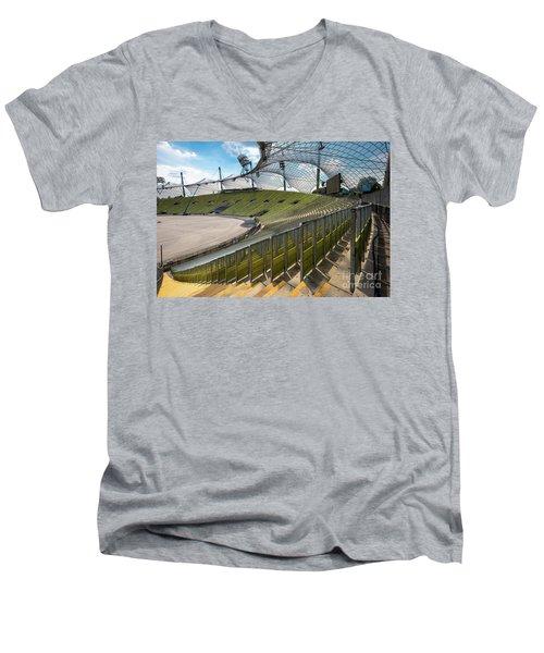 Munich - Olympic Stadium Men's V-Neck T-Shirt by Juergen Klust