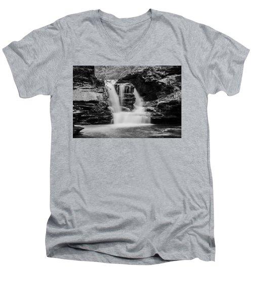 Murray Reynolds Falls - 8557 Men's V-Neck T-Shirt by G L Sarti