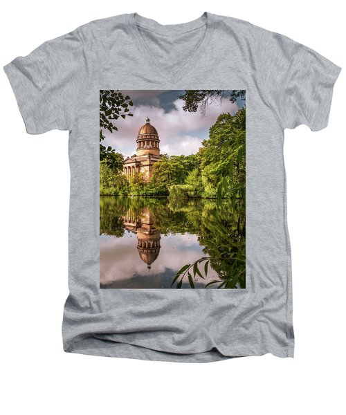 Museum At The Zoo Men's V-Neck T-Shirt by Martina Thompson
