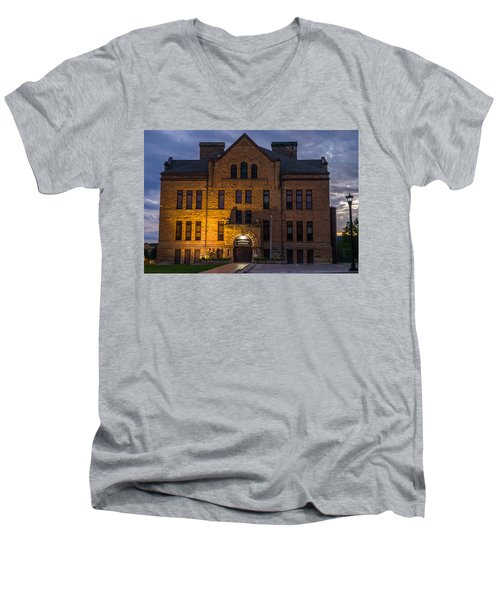 Men's V-Neck T-Shirt featuring the photograph Museum by Jerry Cahill