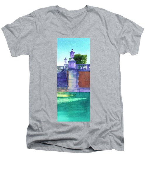 Pool At Viscaya, Miami Men's V-Neck T-Shirt