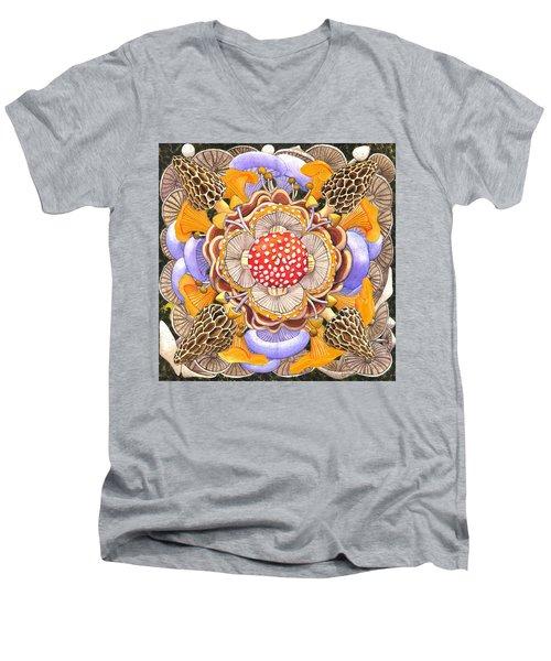 Mushroom Mandala Men's V-Neck T-Shirt