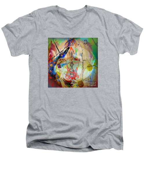 Music Girl Men's V-Neck T-Shirt