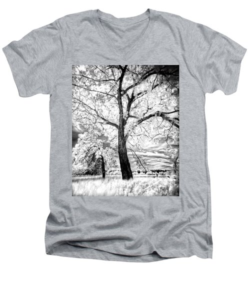 Men's V-Neck T-Shirt featuring the photograph Music Moves The Soul by Dan Jurak