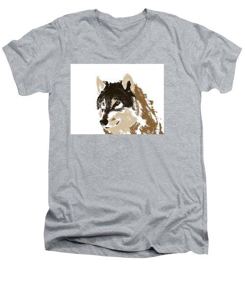 Men's V-Neck T-Shirt featuring the digital art Music Notes 21 by David Bridburg
