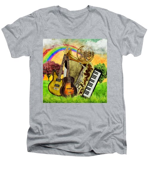 Musical Wonderland Men's V-Neck T-Shirt
