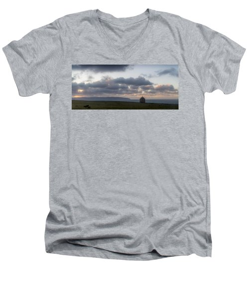 Musseden Temple Sunset Men's V-Neck T-Shirt