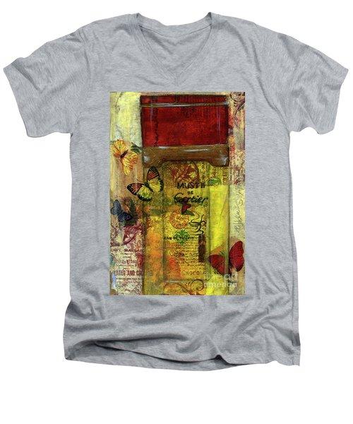 Men's V-Neck T-Shirt featuring the painting Must De Cartier by P J Lewis