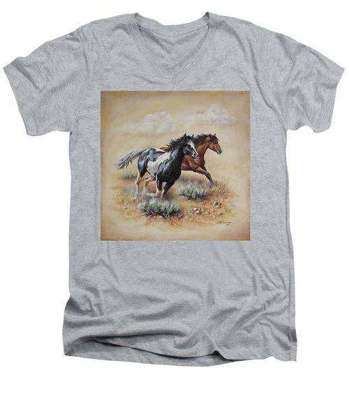 Mustang Glory Men's V-Neck T-Shirt