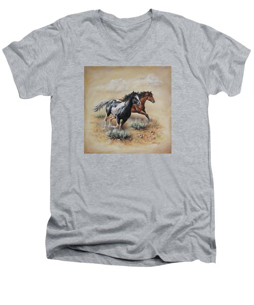 Mustang Glory Men's V-Neck T-Shirt