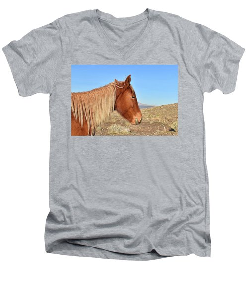 Mustang Mare Men's V-Neck T-Shirt