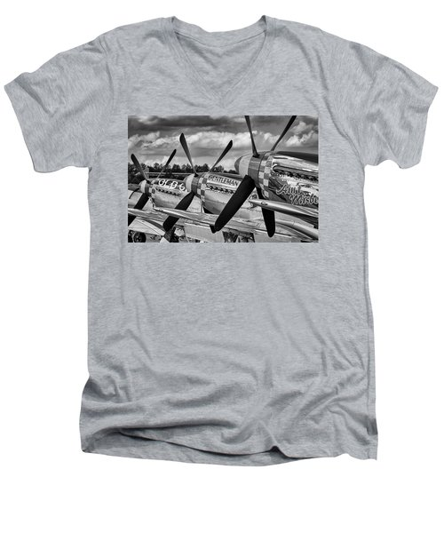 Mustang Row Men's V-Neck T-Shirt