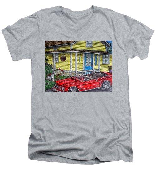 Mustang Sallys' Place Men's V-Neck T-Shirt