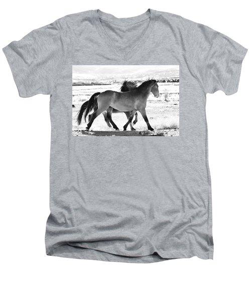 Mustangs Men's V-Neck T-Shirt
