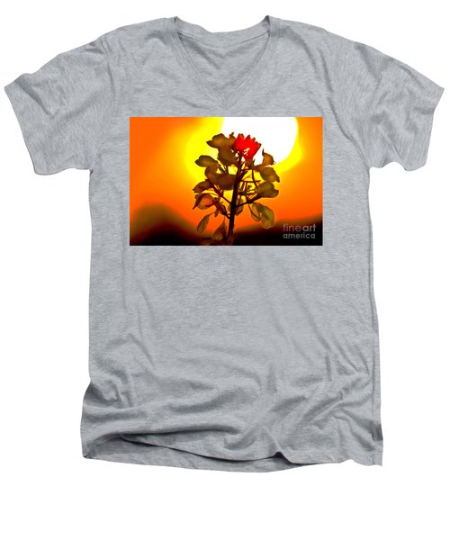 Mustard Sunset Men's V-Neck T-Shirt