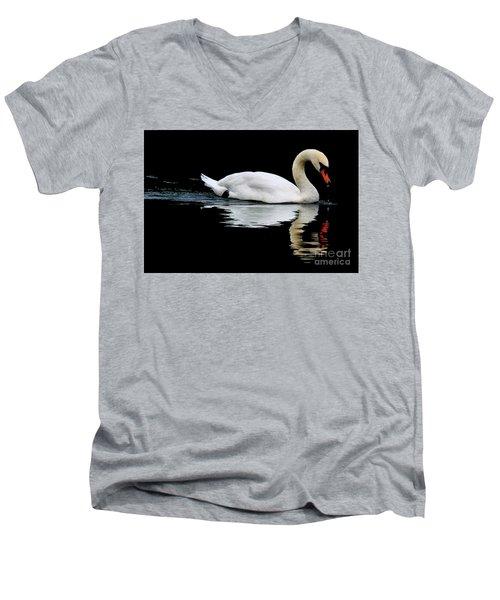 Mute Swan  Men's V-Neck T-Shirt