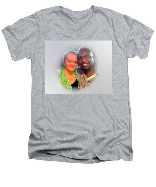 My America Men's V-Neck T-Shirt