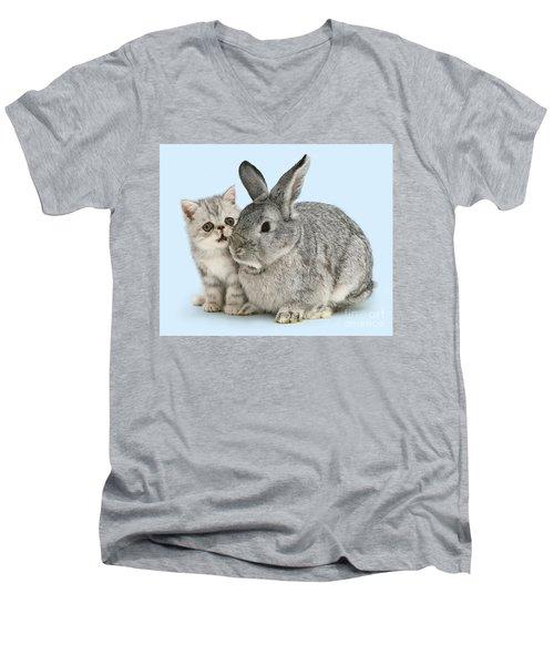 My Bunny Little Friend Men's V-Neck T-Shirt