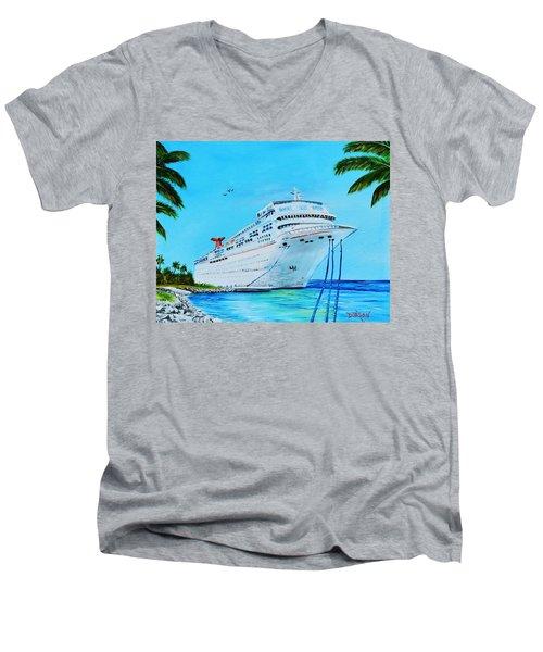 My Carnival Cruise Men's V-Neck T-Shirt by Lloyd Dobson