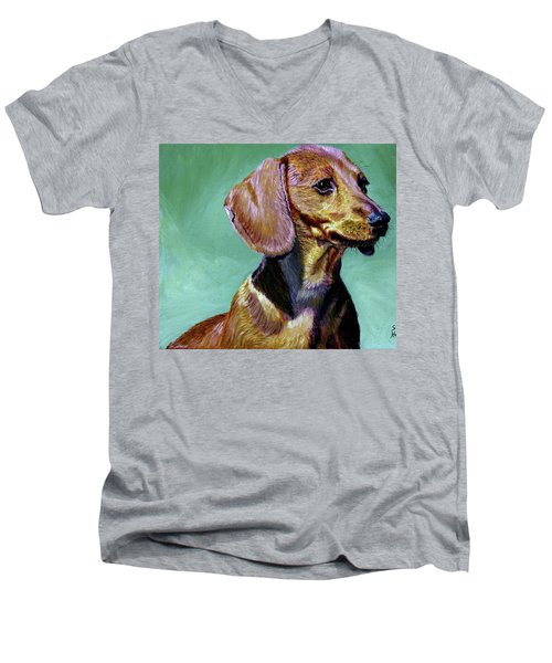 My Daschund Men's V-Neck T-Shirt