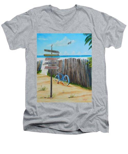 My Favorite Beaches Men's V-Neck T-Shirt