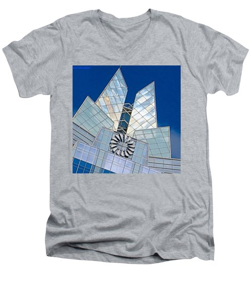 My Favorite #building In #myhometown Men's V-Neck T-Shirt by Austin Tuxedo Cat
