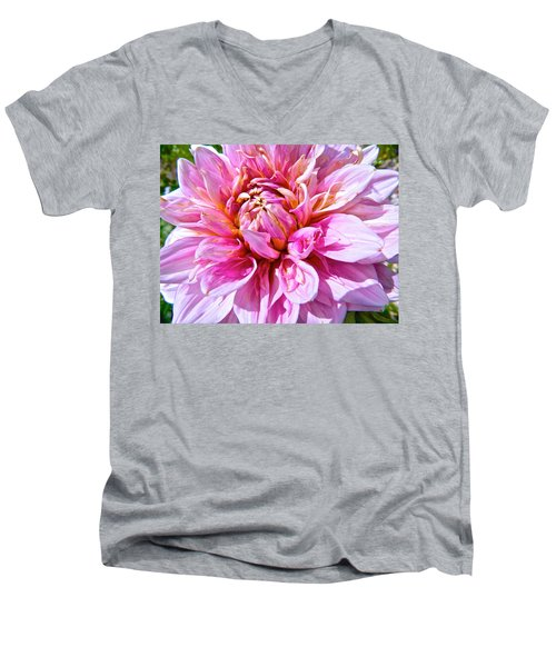 My First Dahlia Men's V-Neck T-Shirt