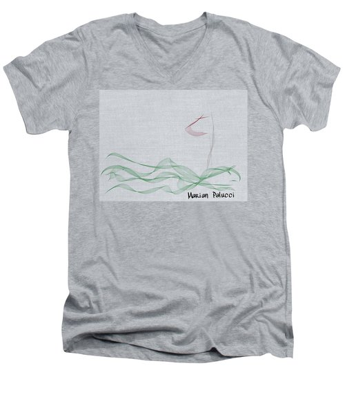 My First Golf Picture Men's V-Neck T-Shirt