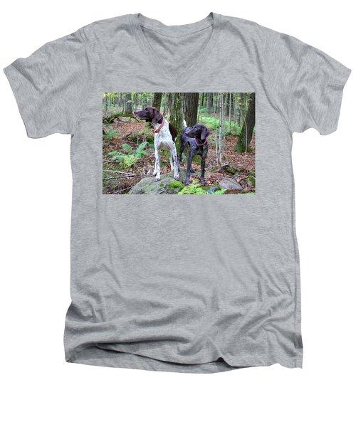 My Girls Men's V-Neck T-Shirt