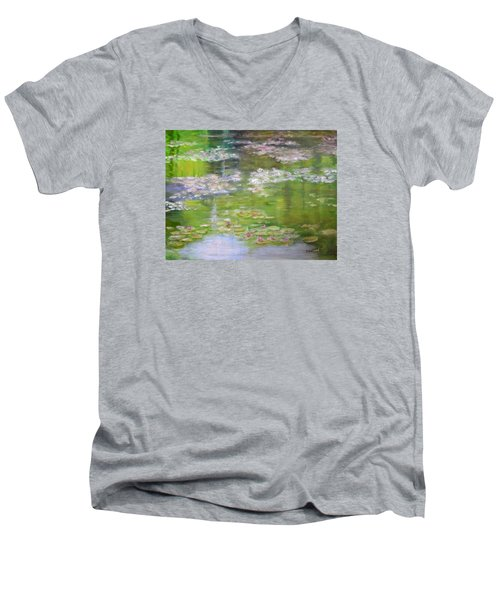 My Giverny Men's V-Neck T-Shirt
