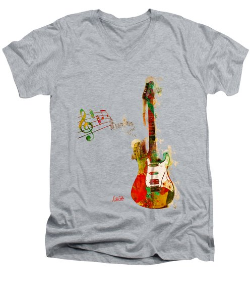 My Guitar Can Sing Men's V-Neck T-Shirt by Nikki Smith