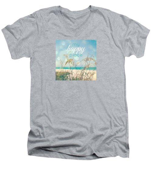 My Happy Place Men's V-Neck T-Shirt