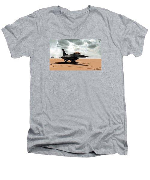 My Jet Men's V-Neck T-Shirt by Walter Chamberlain