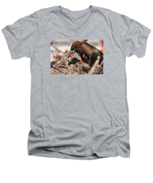 My Mom Feeding Me Men's V-Neck T-Shirt