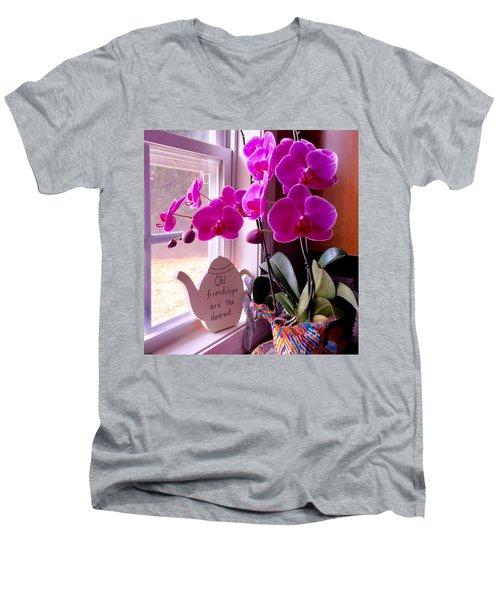 My Orchids Men's V-Neck T-Shirt