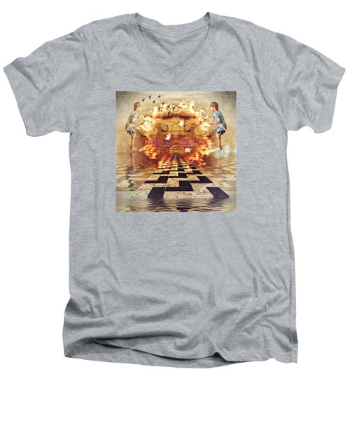 My Shadow's Reflection II Men's V-Neck T-Shirt