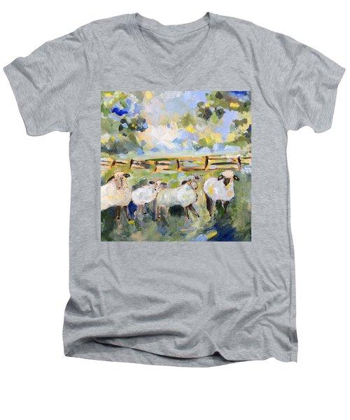 My Sheep Will Follow Me Men's V-Neck T-Shirt