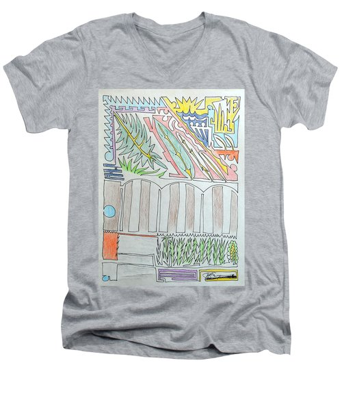 My Side Yard Men's V-Neck T-Shirt by J R Seymour