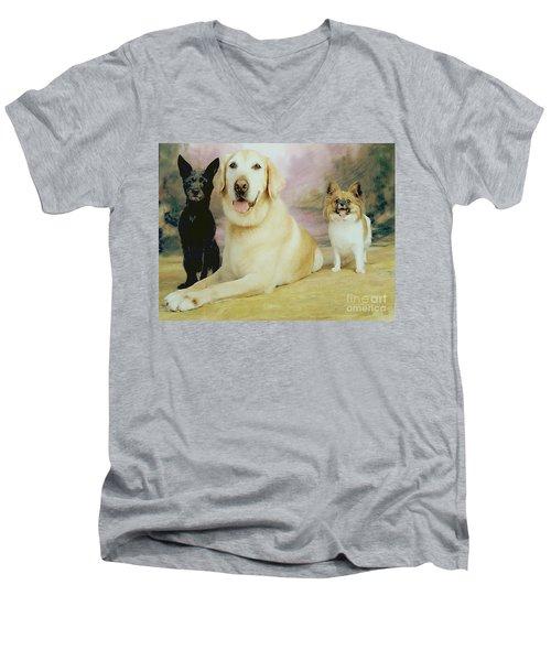 My Son's Three Dogs Men's V-Neck T-Shirt