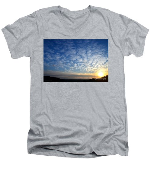 A Lonely Place To Pray Men's V-Neck T-Shirt by Sharon Soberon