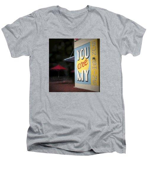 My Sunshine Men's V-Neck T-Shirt by Glenn Gemmell