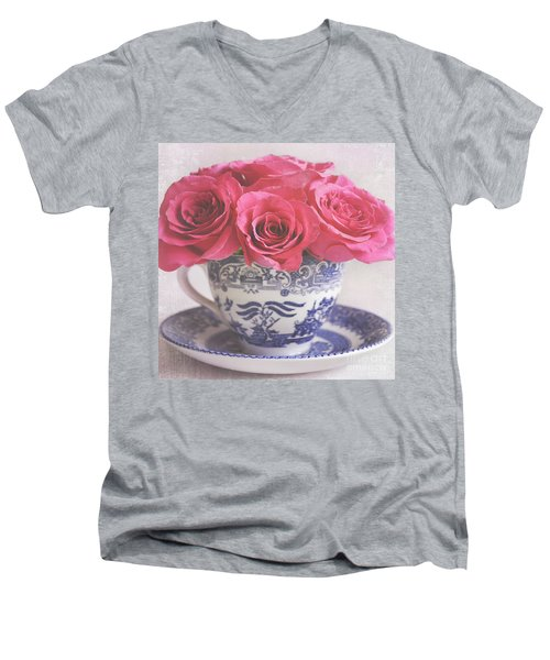 Men's V-Neck T-Shirt featuring the photograph My Sweet Charity by Lyn Randle