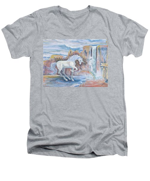 My Unicorn Men's V-Neck T-Shirt