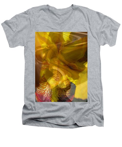 My Wild Iris Abstract - Photography  Men's V-Neck T-Shirt