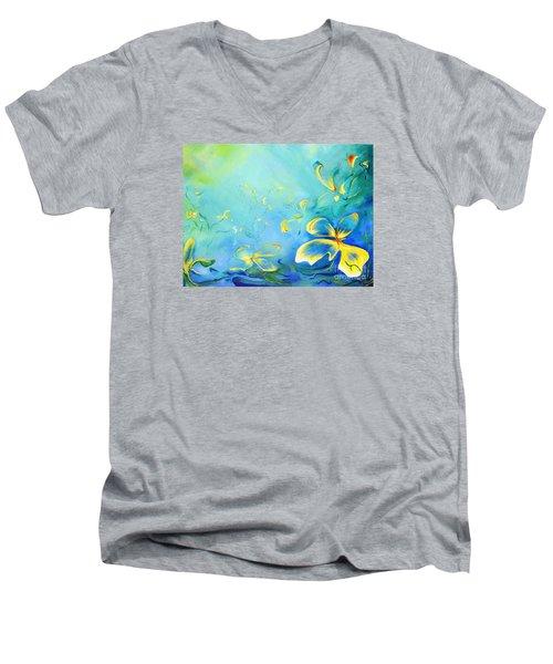 My World Men's V-Neck T-Shirt