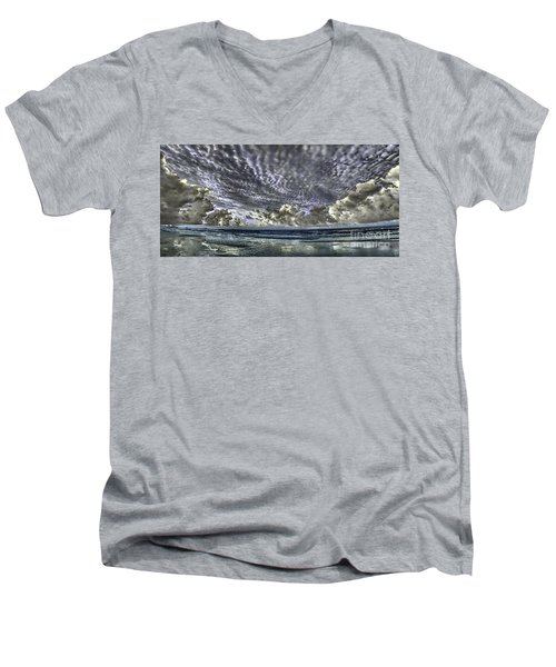 Myrtle Beach Hand Tinted Panorama Sunrise Men's V-Neck T-Shirt