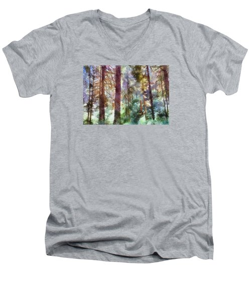 Mysterious Wood Men's V-Neck T-Shirt