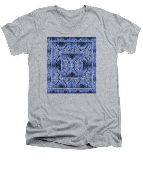 Mystery Blue Men's V-Neck T-Shirt by Joy Nichols