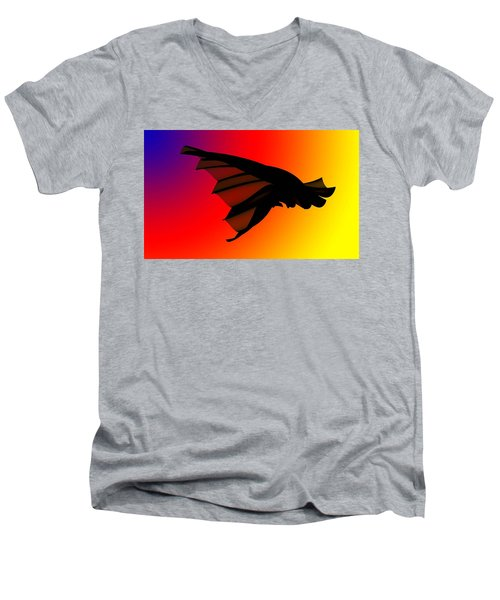 Mystery In Flight Men's V-Neck T-Shirt