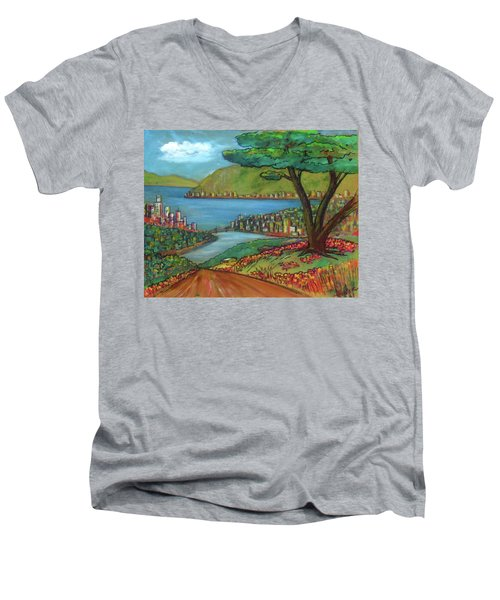 Mystery Painting From 1961 Men's V-Neck T-Shirt